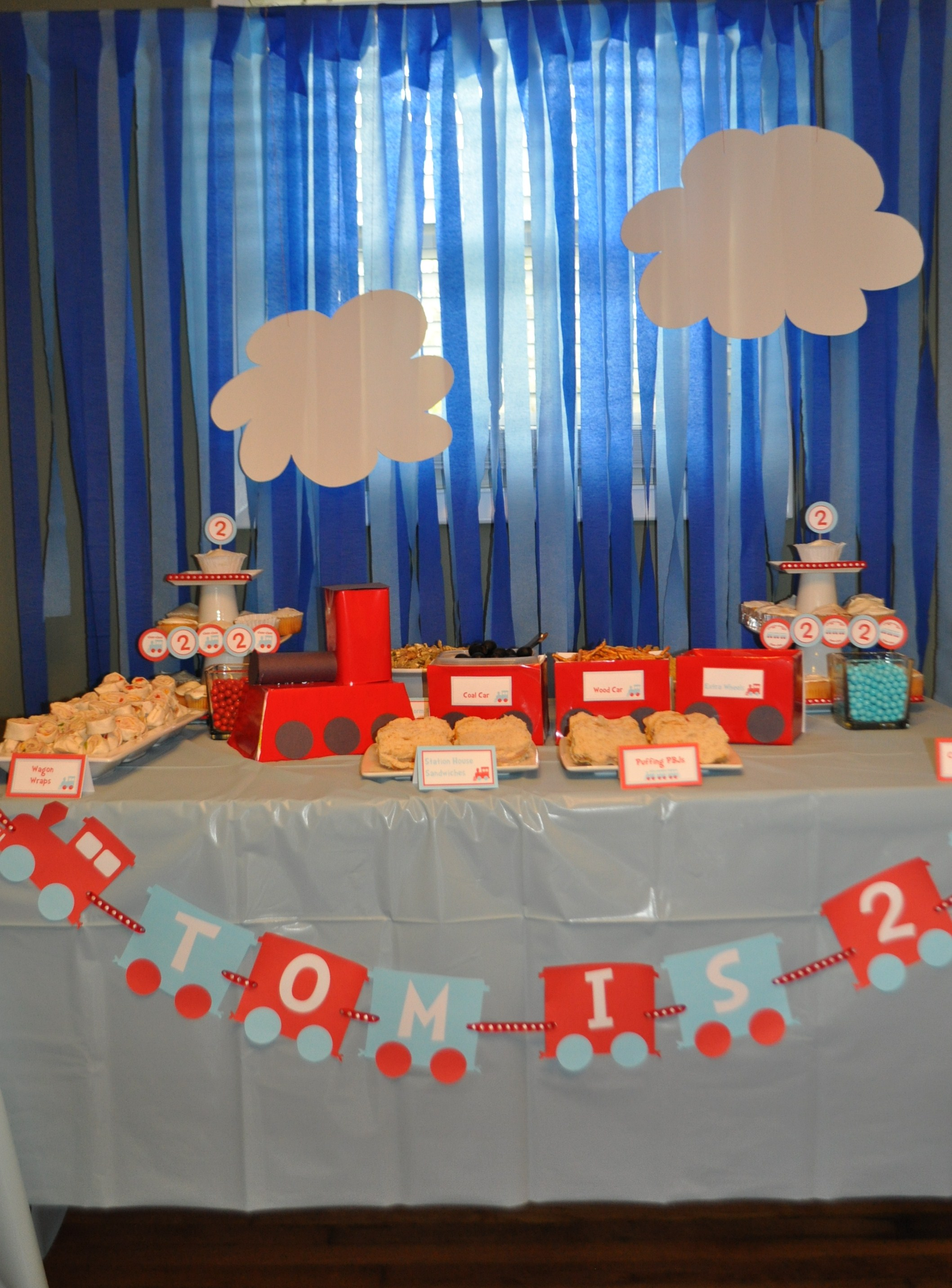 The Making Of Toms Train Themed 2nd Birthday Party
