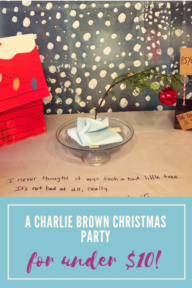 throw a charlie brown christmas party(1)